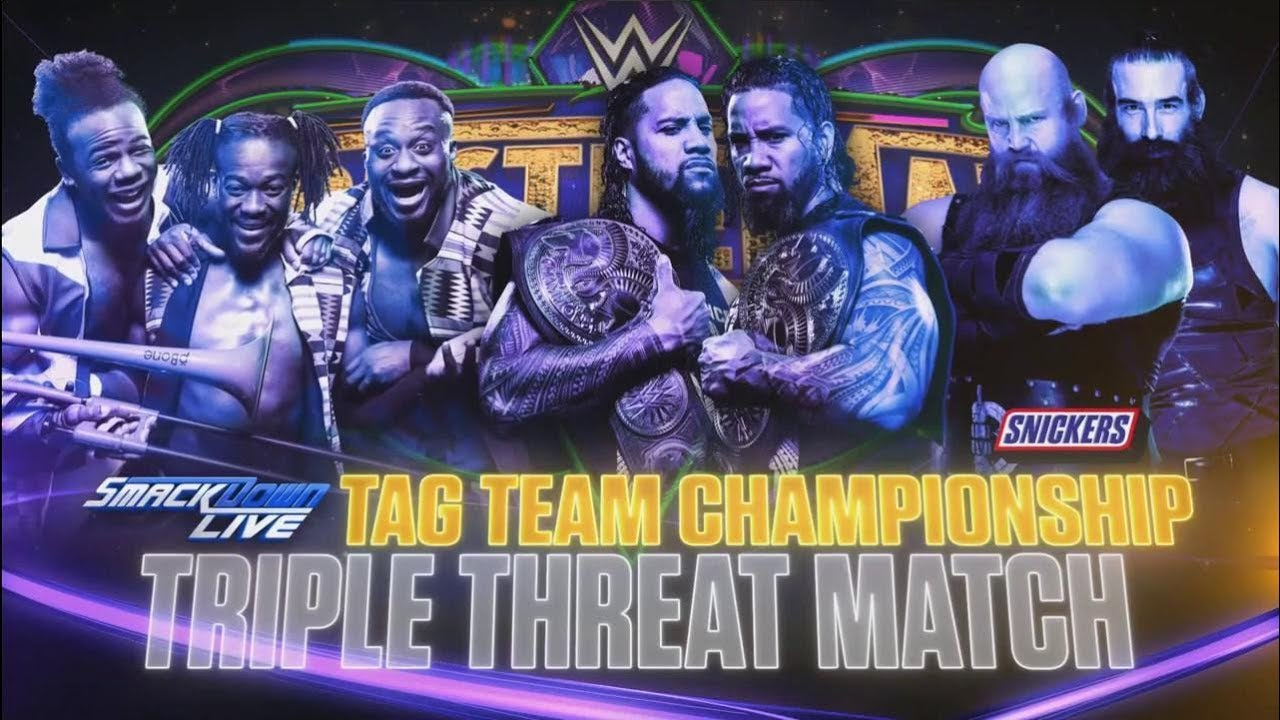 WWE WrestleMania 34 - Campeonato por Equipos de SmackDown - The Usos vs. The New Day vs T.he Bludgeon Brothers