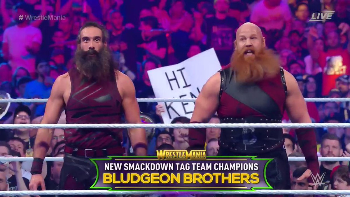 WWE WrestleMania 34 - Campeonato por Equipos de SmackDown - The Usos vs. The New Day vs. The Bludgeon Brothers