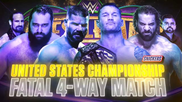 WWE WrestleMania 34 - Campeonato de los Estados Unidos -Randy Orton vs. Bobby Roode vs. Jinder Mahal vs. Rusev