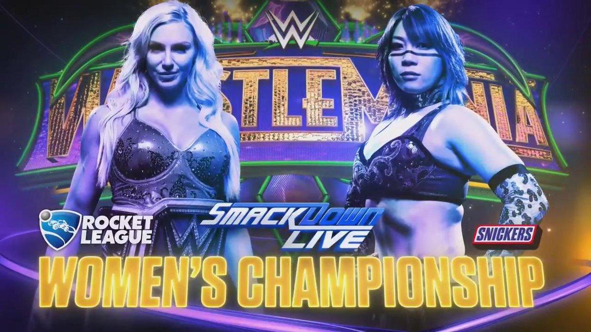 WWE WrestleMania 34 - Camponato Femenino de SmackDawn - Charlotte Flair vs. Asuka