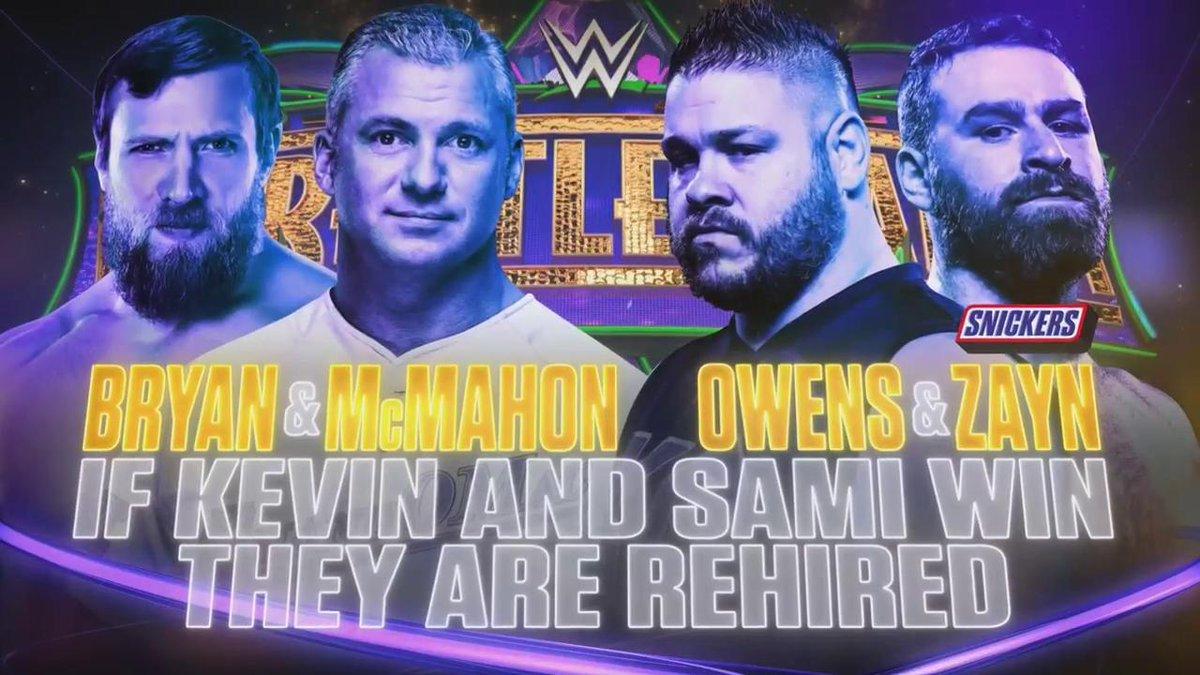WWE WrestleMania 34 - Shane McMahon y Daniel Bryan vs. Kevin Owens y Sami Zayn