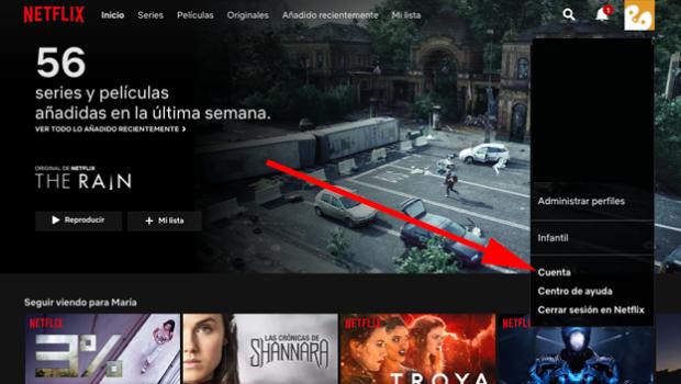 Borrar películas series Netflix