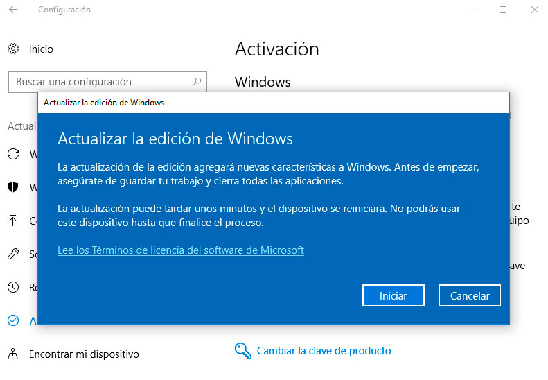 Actualizar a Windows 10 Pro
