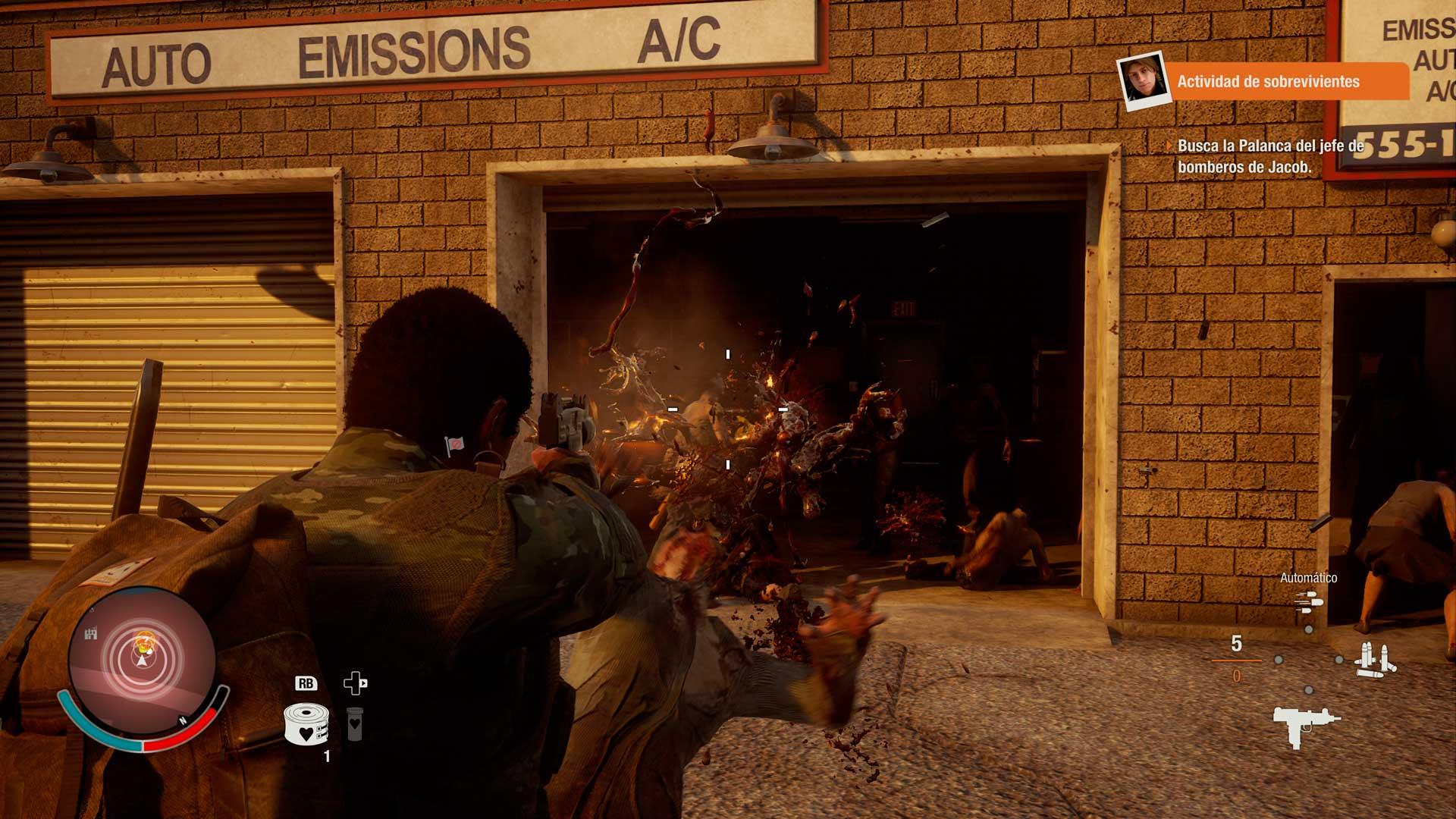 Análisis State of Decay 2 - disparo