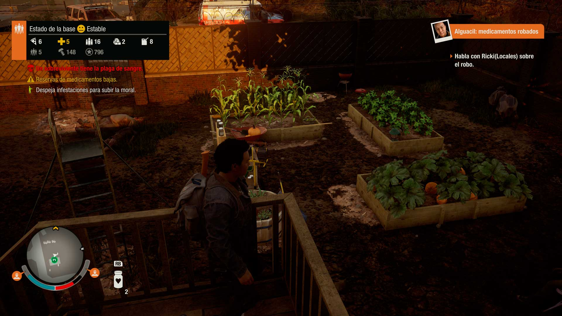 Análisis State of Decay 2 - huerto