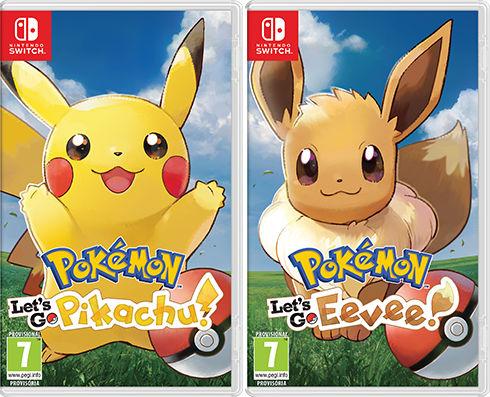 Pokémon Lets Go Pikachu Eevee Switch carátula