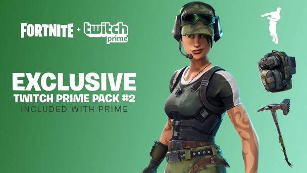 Fortnite Battle Royale Twitch Prime Pack #2