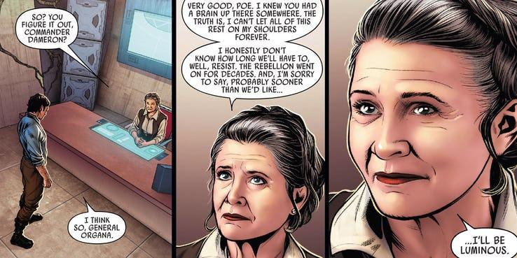 Leia comic Poe Dameron