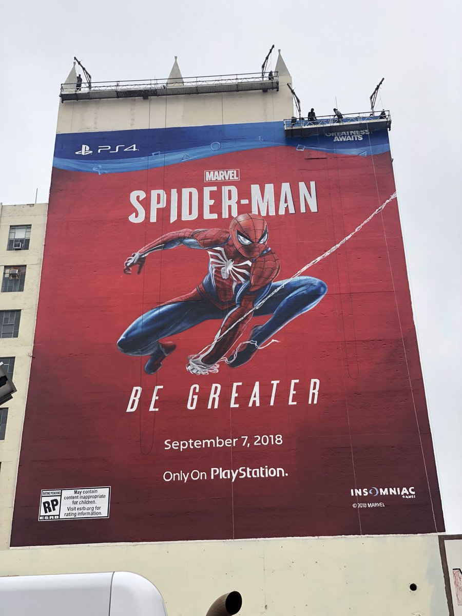 Mural de Spider-Man E3 2018