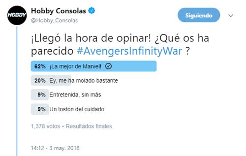 Vengadores Infinity War encuesta