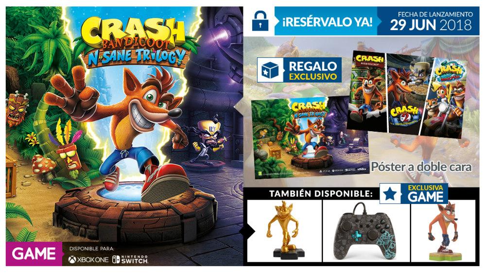 Crash Bandicoot N. Sane Trilogy en GAME