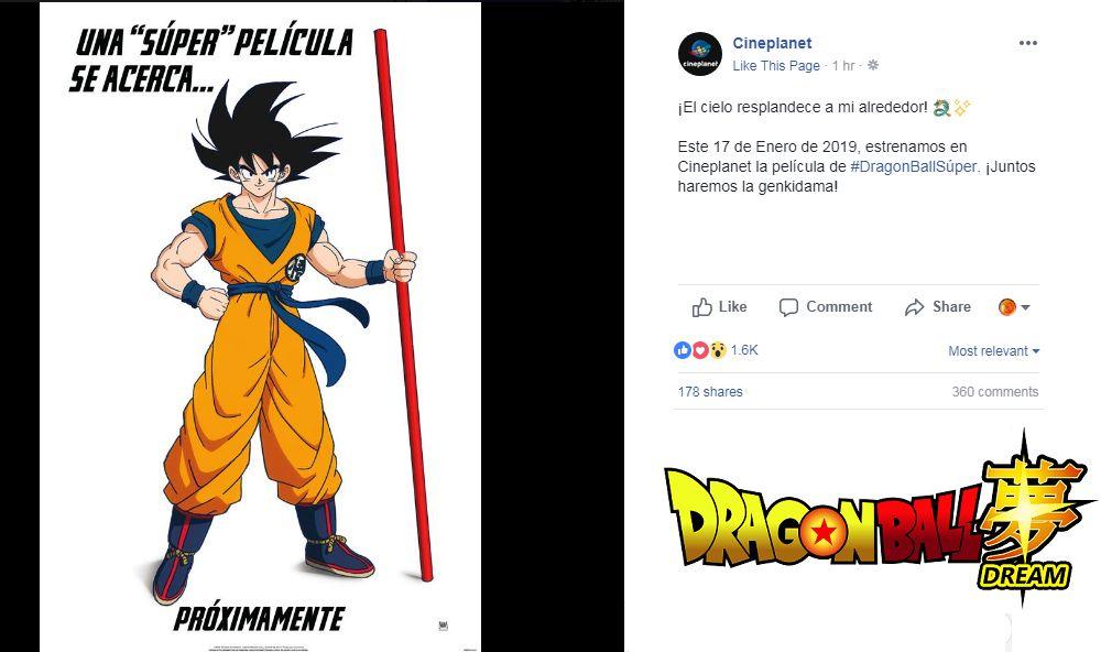 Anuncian fecha para la nueva película de Dragon Ball