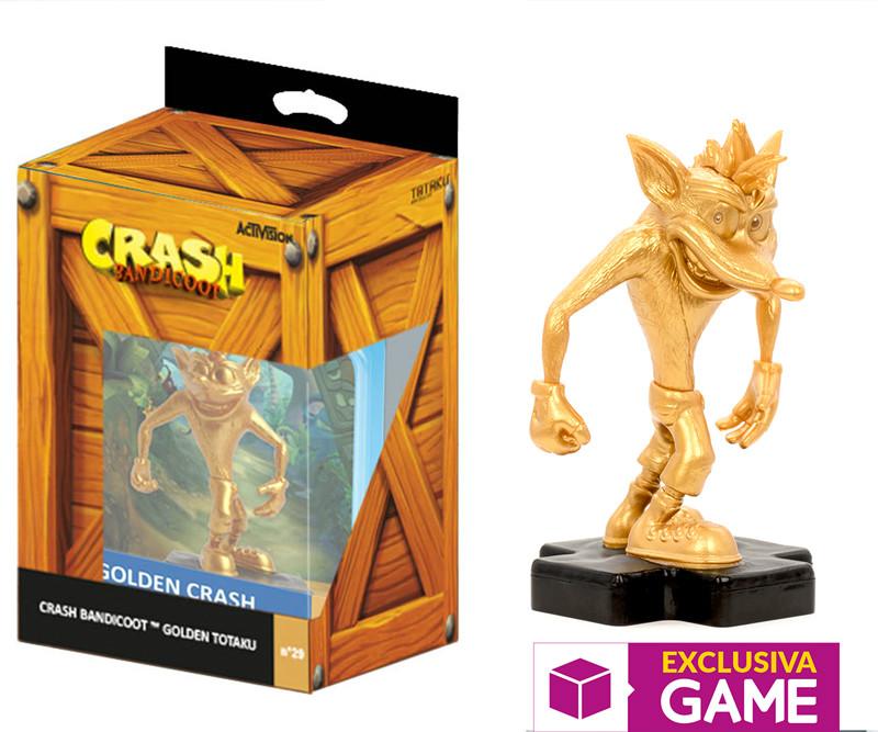 Figura Totaku dorada de Crash Bandicoot