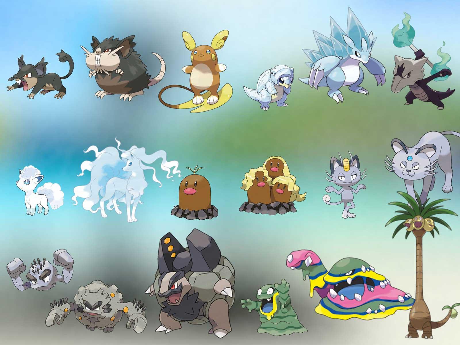 Formas Alola Pokémon GO