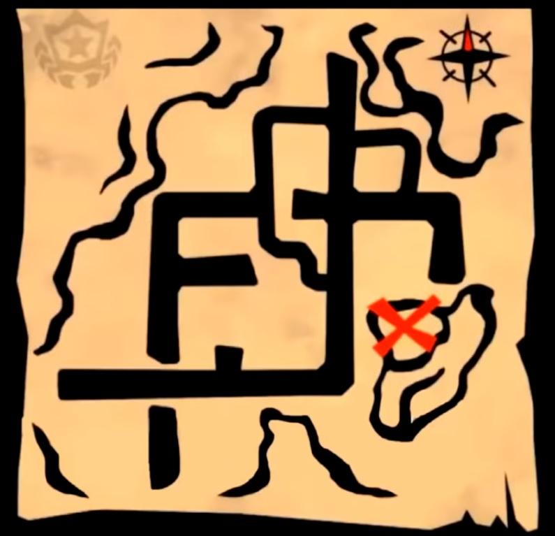 Fortnite Battle Royale - Mapa del tesoro de Parque Placentero