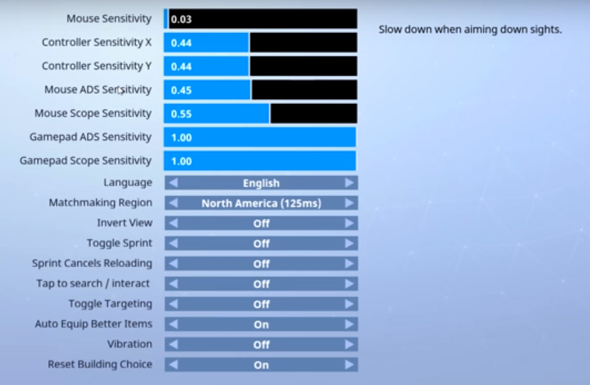 Fortnite configuración PC