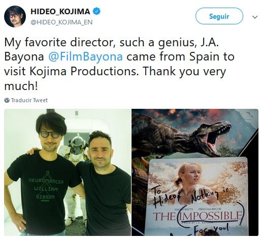 Hideo Kojima y J.A. Bayona