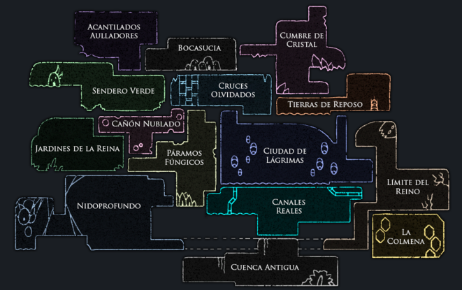 Mapa de Hollow Knight