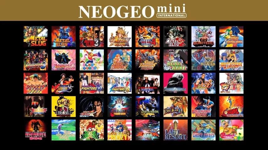 Neo Geo Mini International lista de juegos