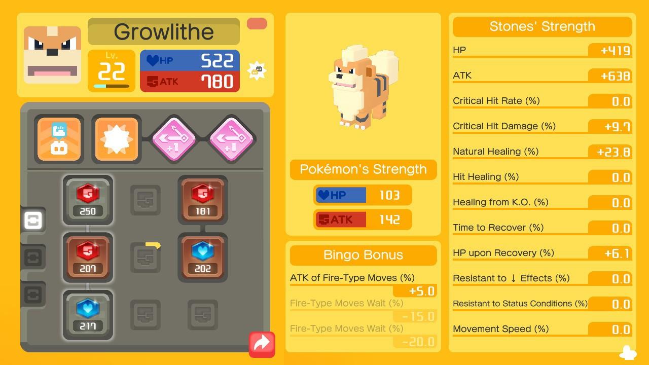 piedras de poder y de movimiento en Pokémon Quest, guía sobre piedras de poder y de movimiento en Pokémon Quest, conseguir piedras de poder y de movimiento en Pokemon Quest, tipos de piedras de poder y movimiento en Pokemon Quest