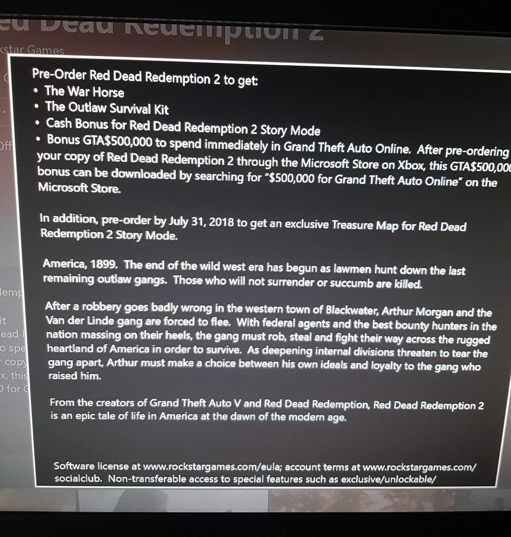Red Dead Redemption 2 incentivos de reserva filtrados
