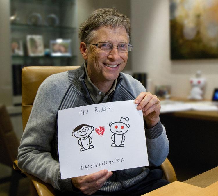 Bill Gates y Reddit