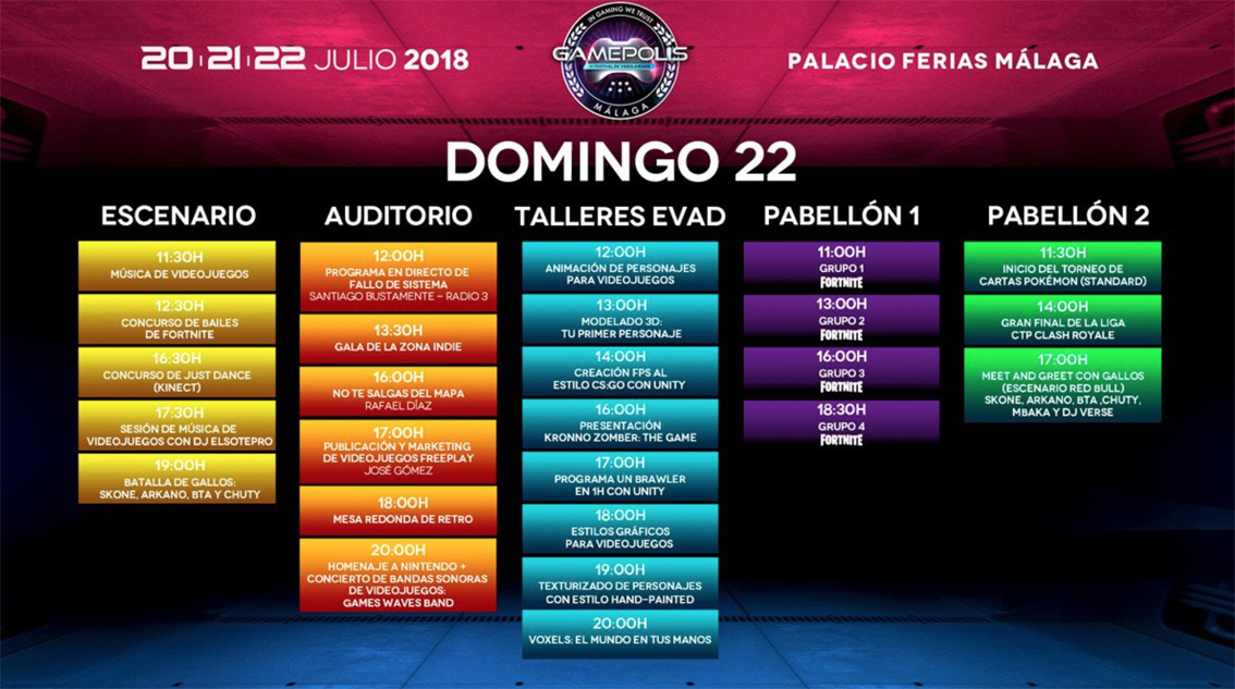 domingo 22 gamepolis