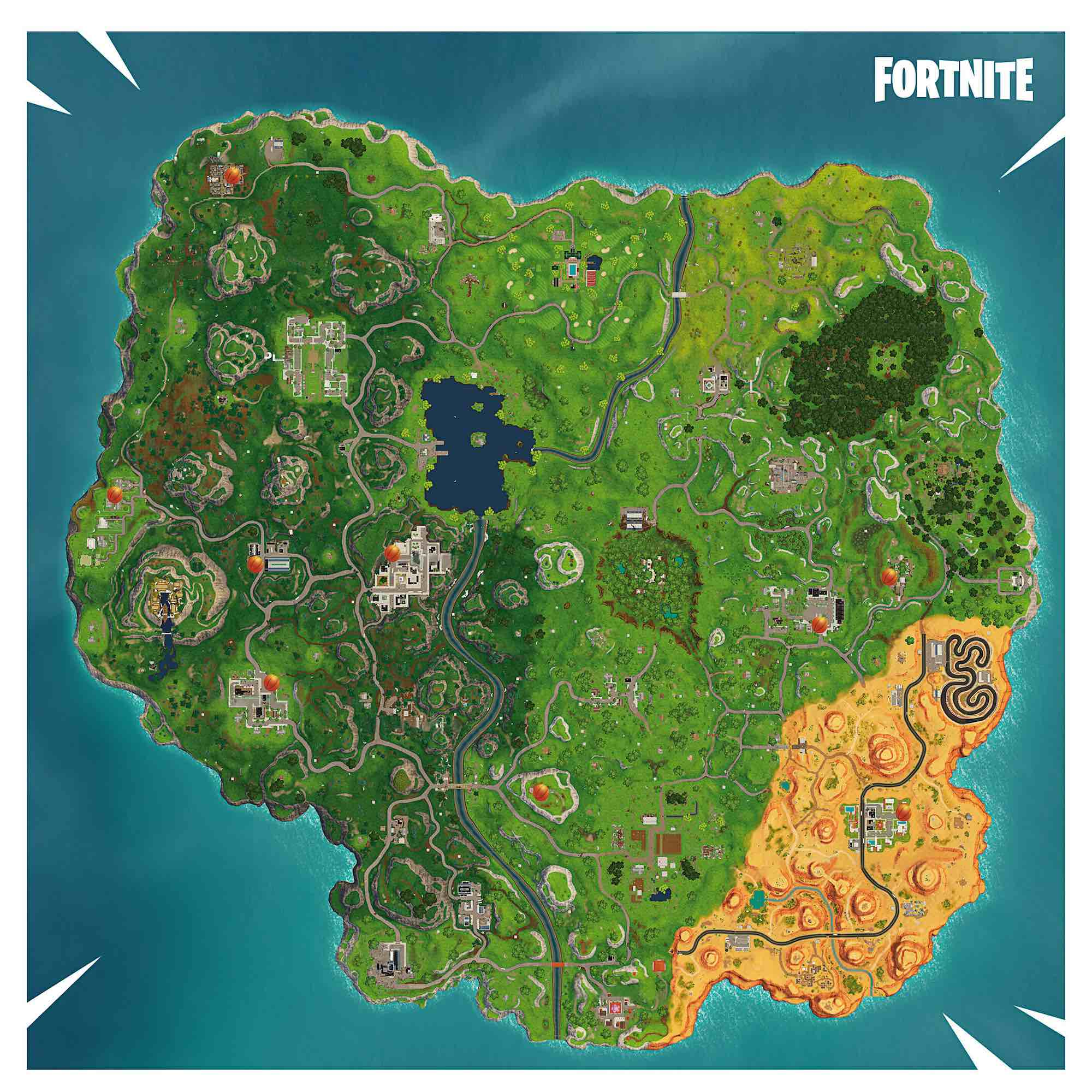 Fortnite Basket Mapa 3