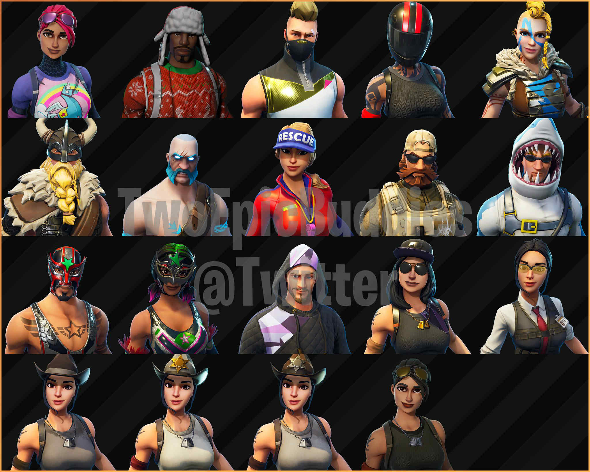 todas las skins de fortnite
