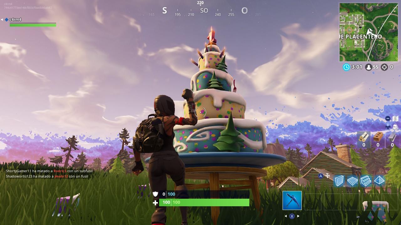 Pasteles cumpleaños Fortnite