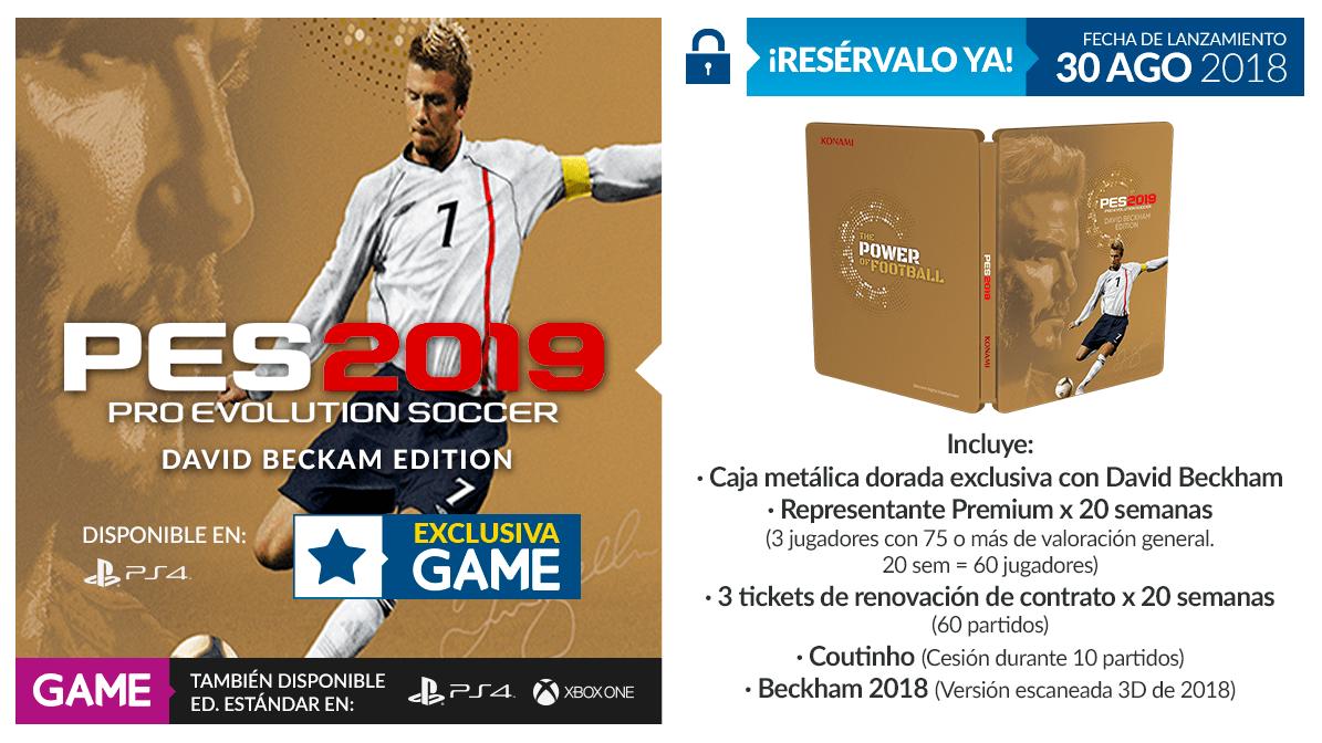 Pes 2019 David Beckham Edition Estara Disponible Solo En Game