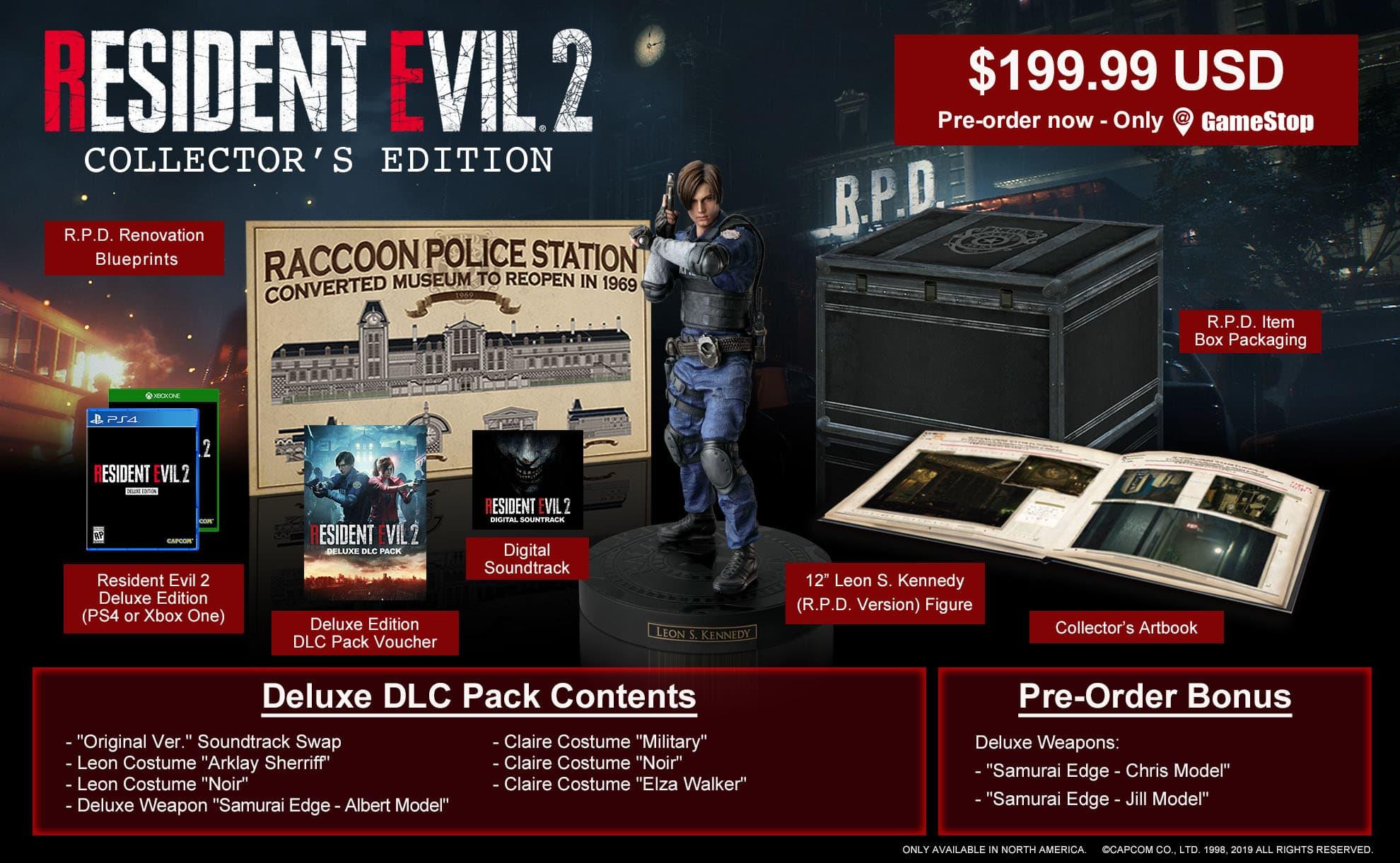 Resident Evil 2 Remake Edición Coleccionista