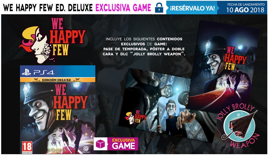 We Happy Few Edición Deluxe en GAME