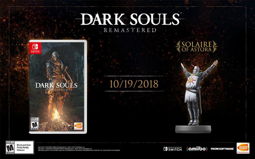Dark Souls Remastered arribará a Switch en Octubre