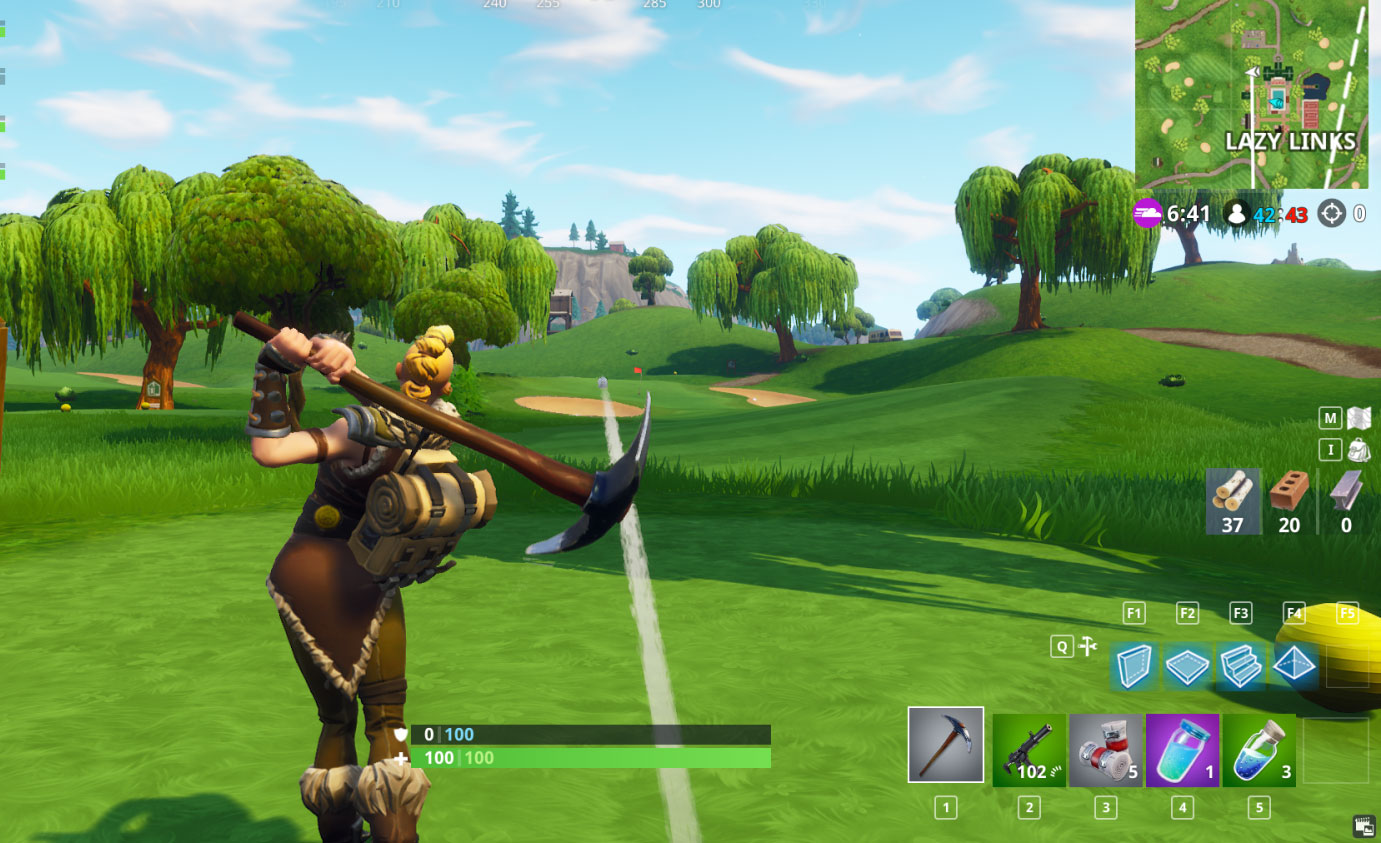 Fortnite Hoyos golf