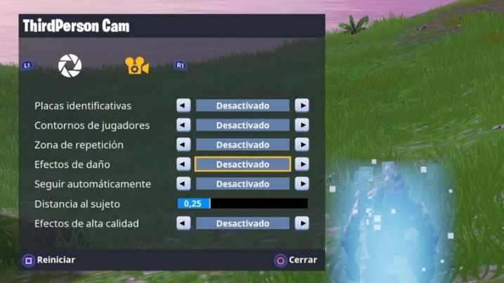 Modo repetición Fortnite