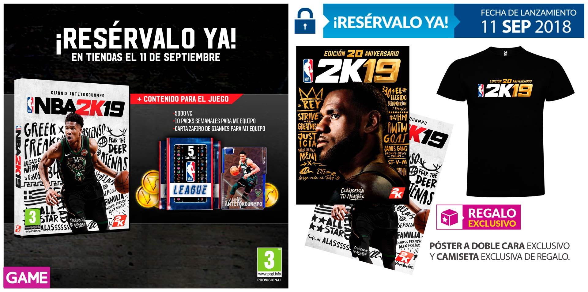NBA 2K19 regalos reserva GAME