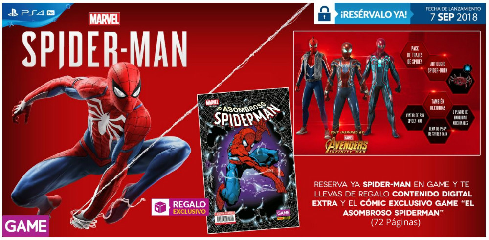 Spider-Man para PS4 en GAME