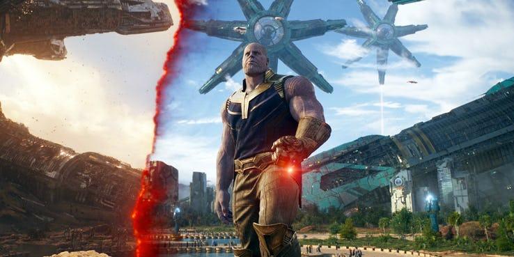 Thanos y la Gema de la Realidad
