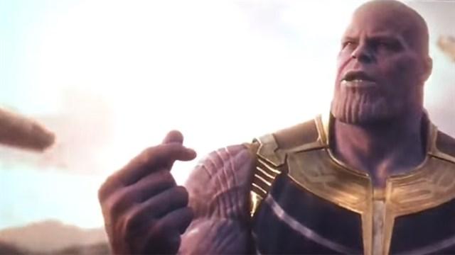 Vengadores Infinity War - Thanos chasquido