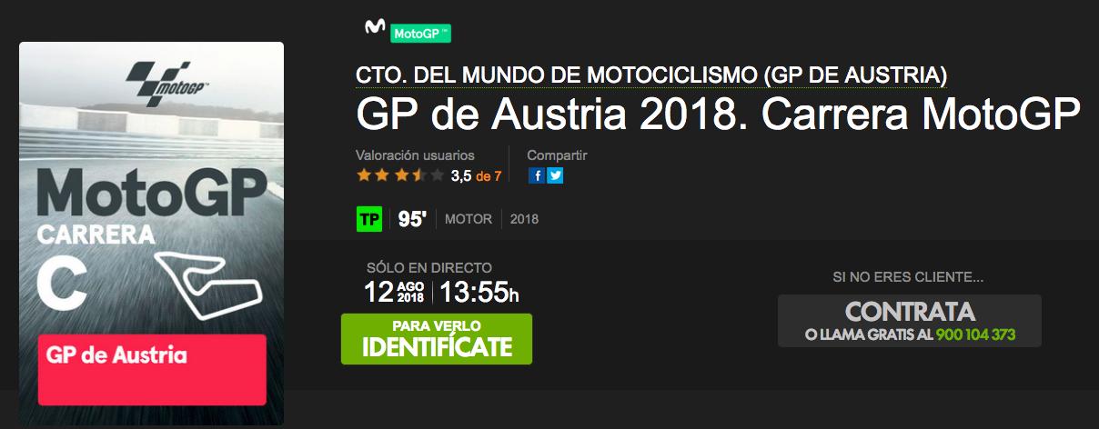 ver motogp austria 2018 por internet