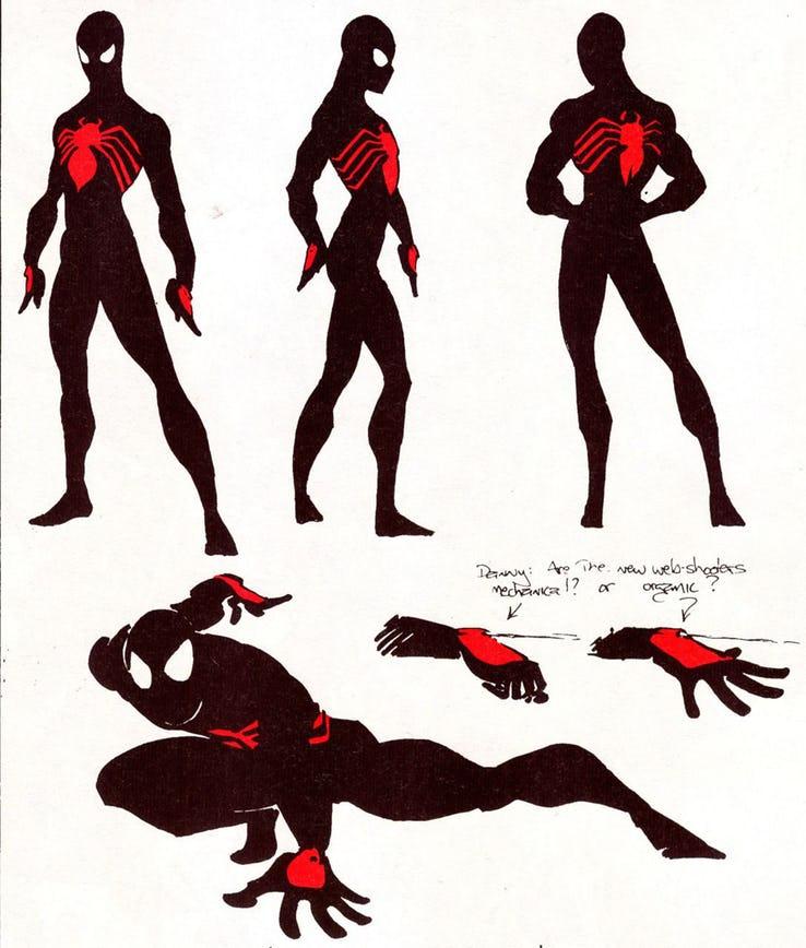 El diseño fan del traje negro de Spider-Man