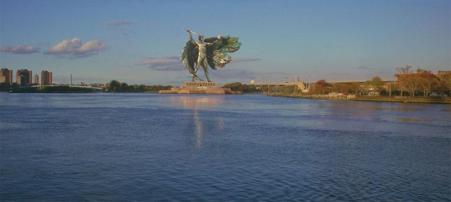 La estatua de la Extra libertad