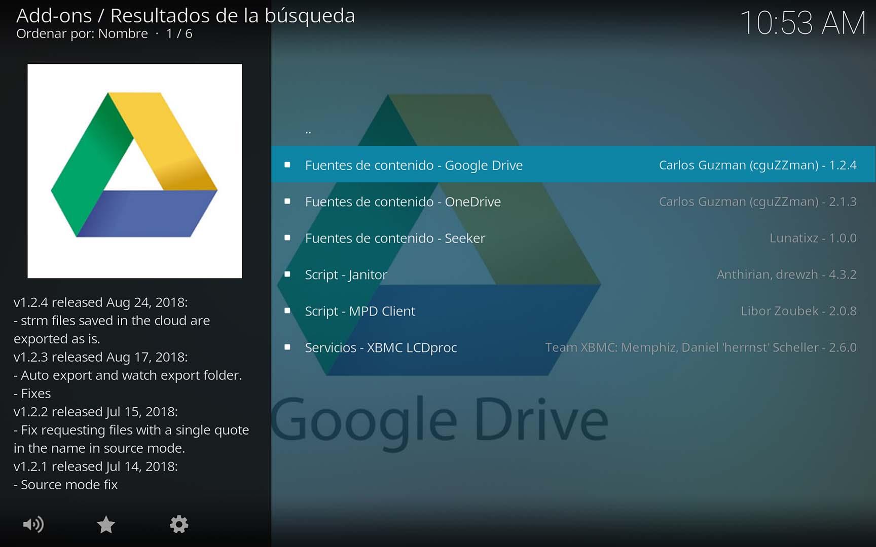 Google Drive en Kodi
