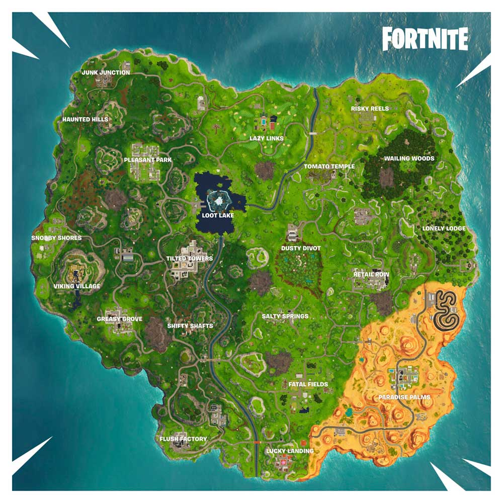 As Es El Mapa De Fortnite Temporada 6 Estas Son Las