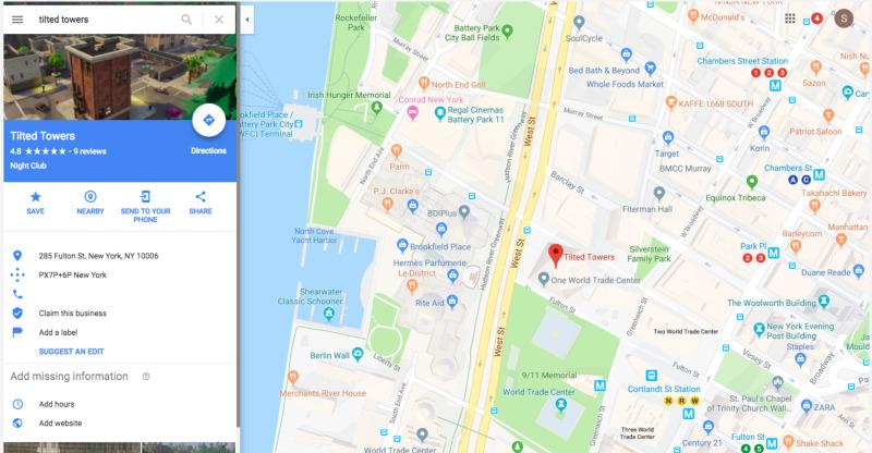 Pisos Picados en Google Maps