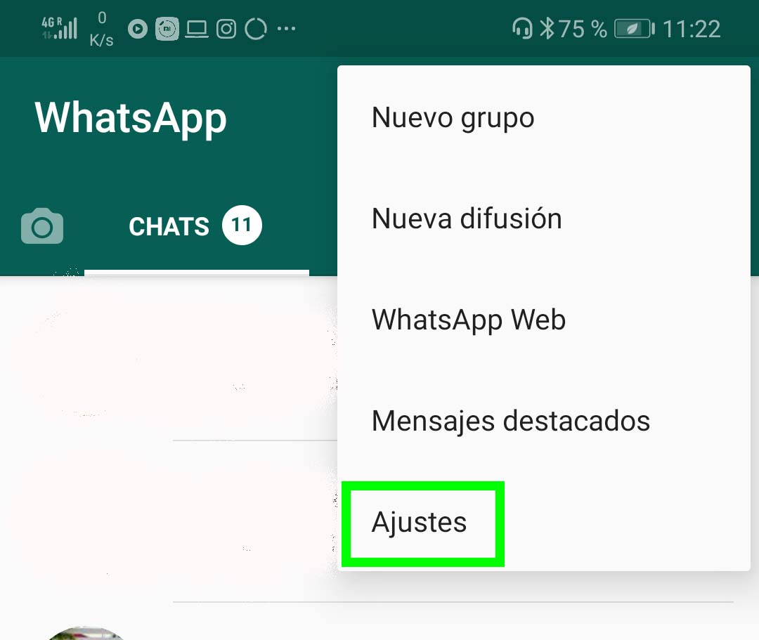 Ahorrar datos WhatsApp