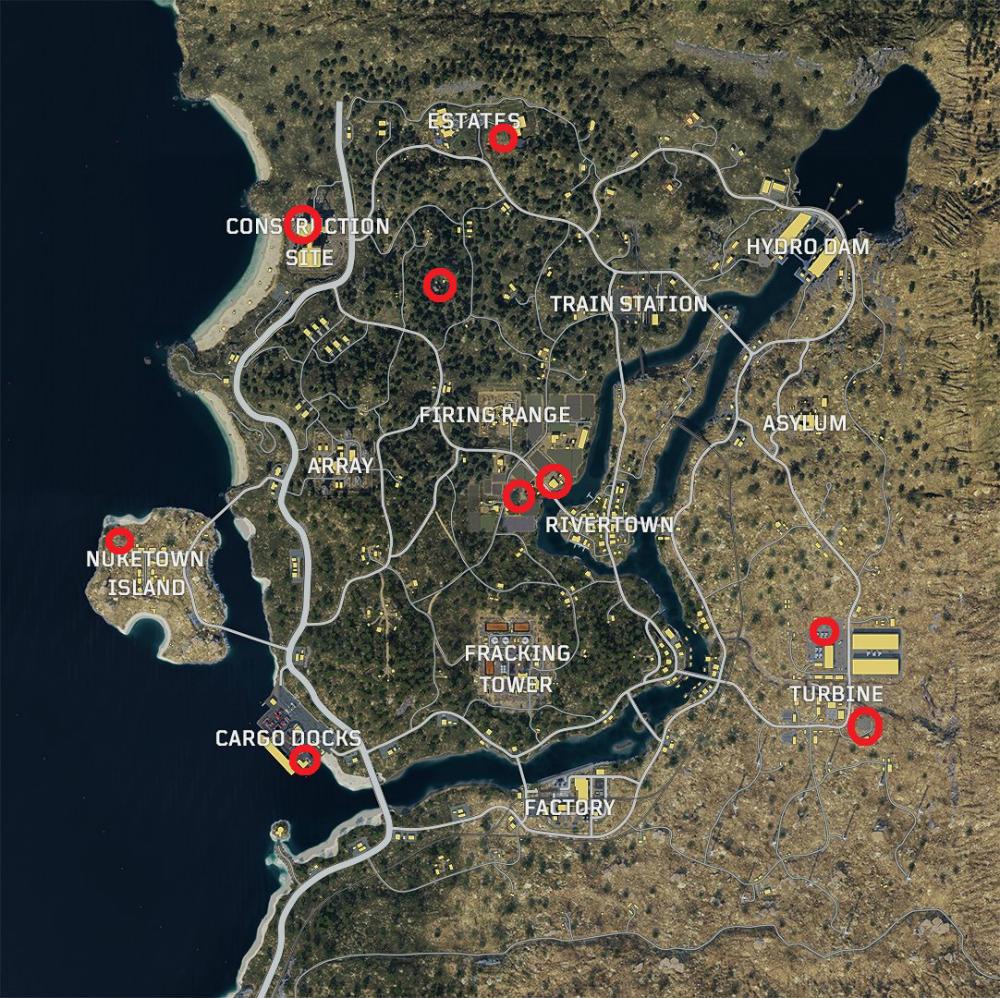 Call of Duty Black Ops IIII Blackout - Mapa de helicópteros