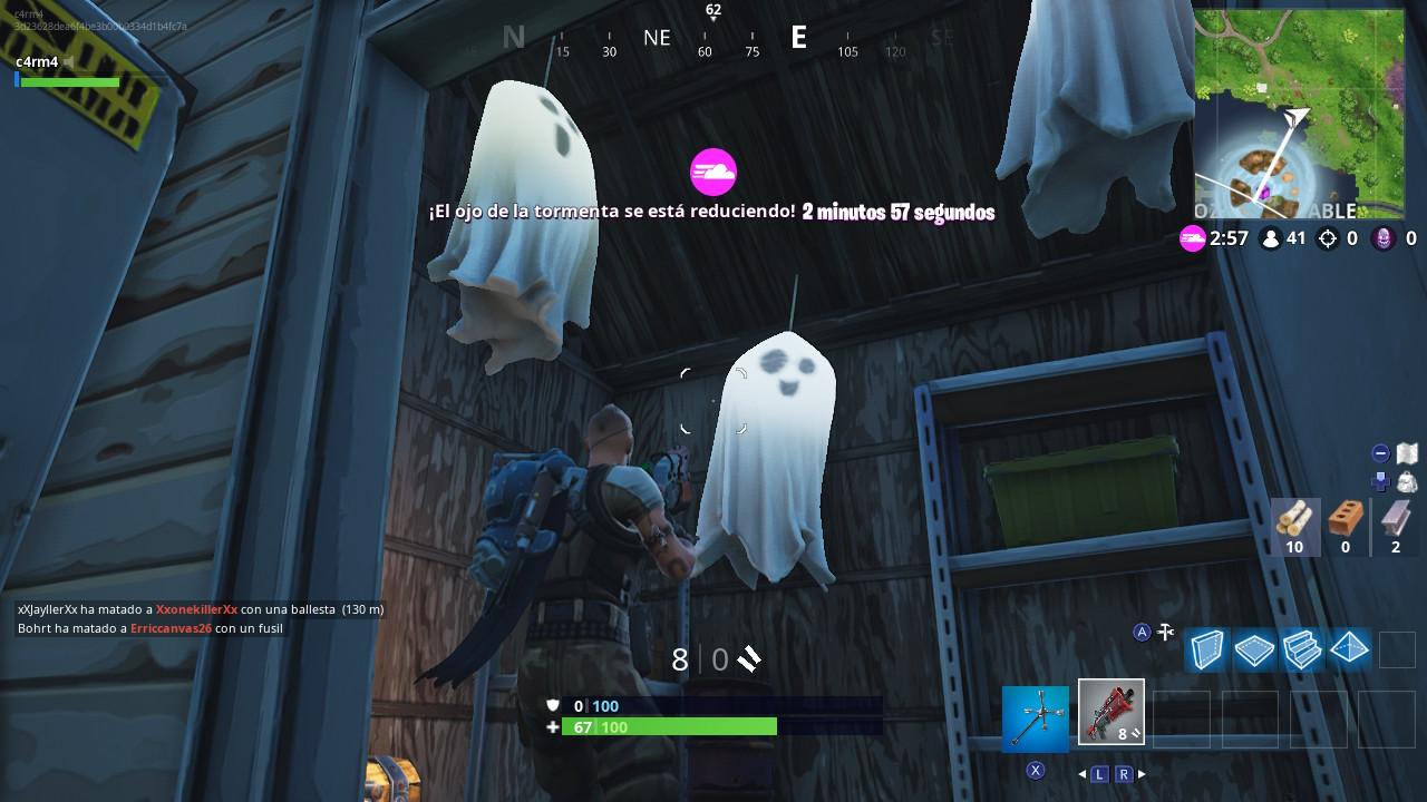Destruye decoración fantasmal Fortnite