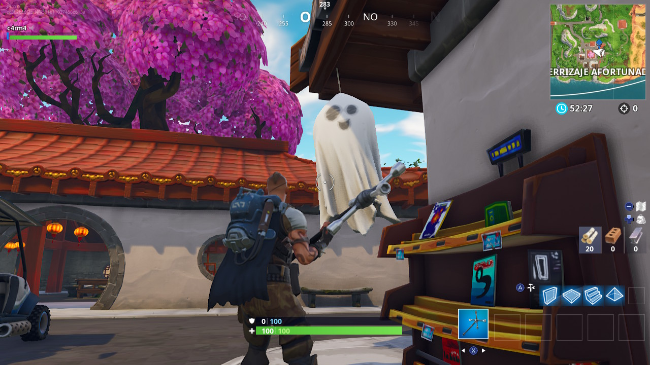 destruye decoracion fantasmal fortnitemare